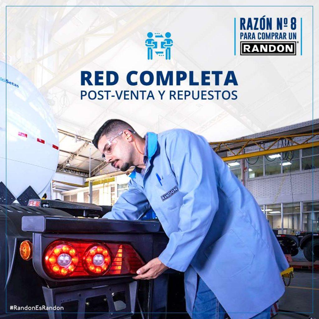 Razón 8: Red completa de Post-Venta y repuestos en Bolivia