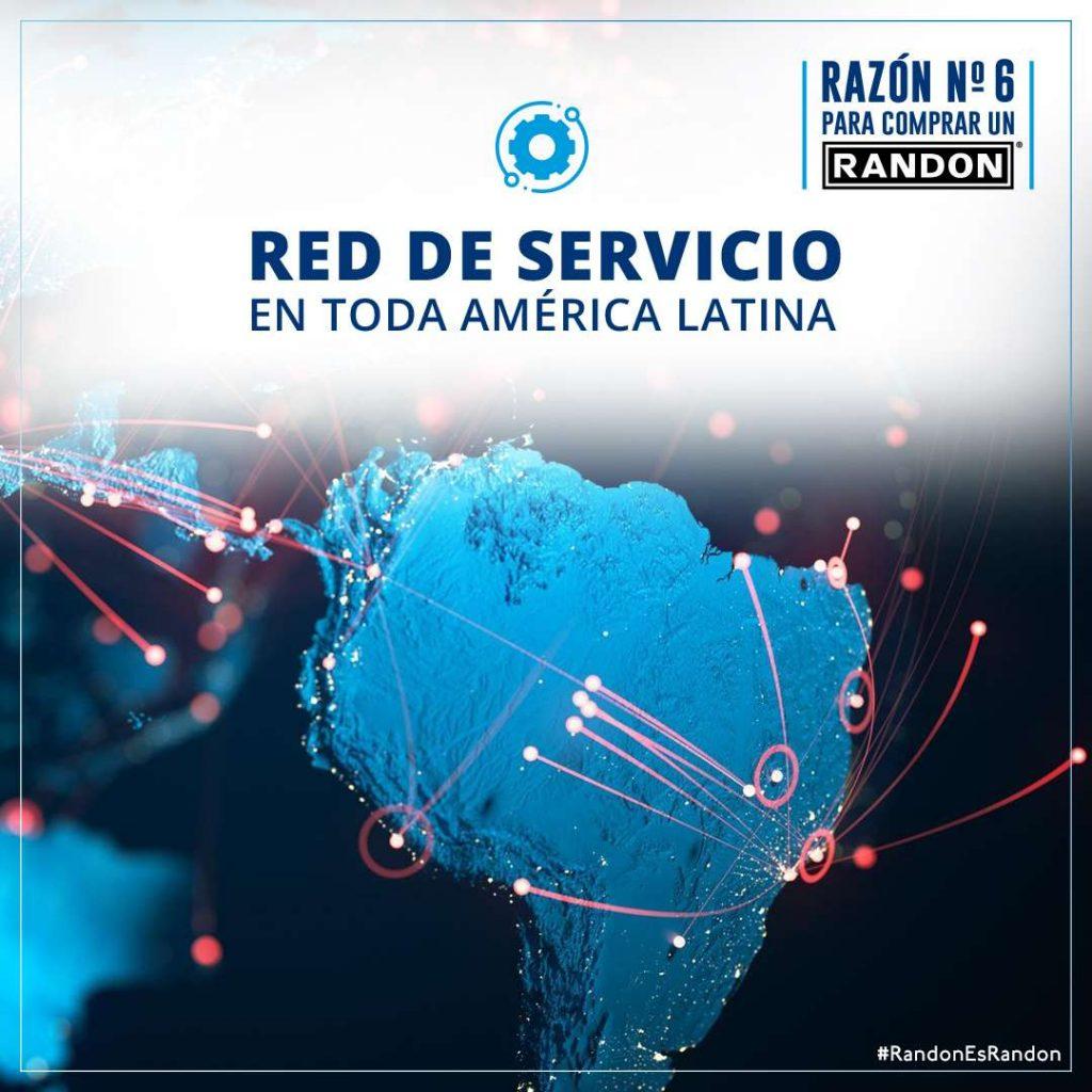Razón 6: Red de Servicio en toda América Latina.